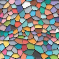 Fond transparent coloré sur le style de mosaïque. vecteur