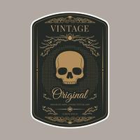 Modèle d'étiquette vintage rétro vecteur
