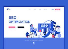 Concept de modèle de conception de page Web plat moderne d'analyse Seo