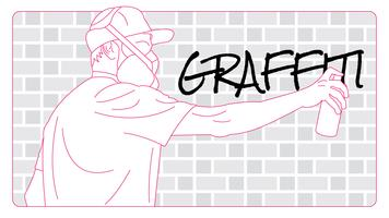 Vecteur de graffiti mignon
