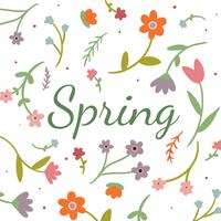 Fond floral mignon pour la saison de printemps