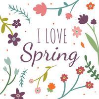 Fond floral coloré sur le printemps