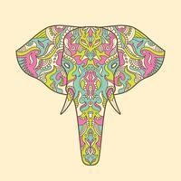 Éléphant peint