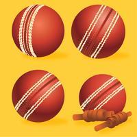 Pack de vecteur de balle de cricket