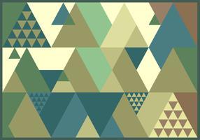 triangle rétro vecteur