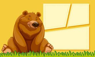 Un ours sur un modèle vierge