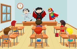 Enfants en classe de théâtre