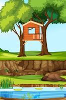 Cabane dans la nature vecteur