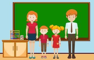 Etudiants et professeurs en classe