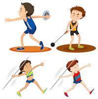Personnes pratiquant l'athlétisme
