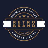 Rétro Badge Logo Logo Emblème Design vecteur