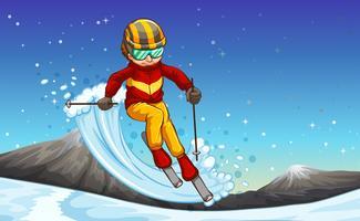 Ski vecteur