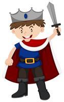 Petit garçon en costume de prince vecteur