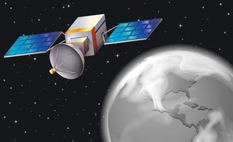 Un satellite dans l'espace extérieur