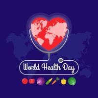 Modèle de journée mondiale de la santé
