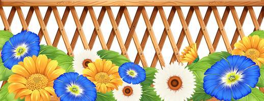 Fleurs fraîches colorées vecteur