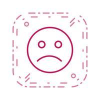 Icône de vecteur émoticône triste