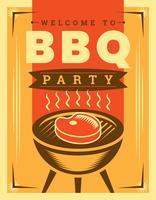 Affiche BBQ rétro vecteur