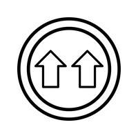 Vector Give Way Icon Icône de donner de vecteur