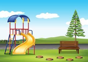 Terrain de jeu dans le parc vecteur