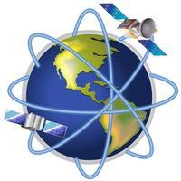Un satellite autour de la planète