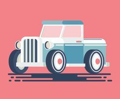 Illustration de voiture rétro vecteur