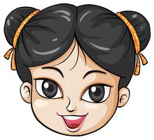 Un visage de jeune femme chinoise vecteur