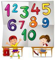 Les enfants et les nombres un à dix