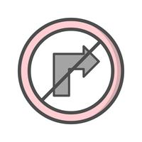 Icône Vector ne tourne pas à droite