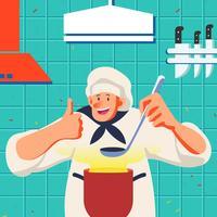 Chef cuisinier vecteur