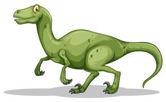 Dinosaure vert avec des griffes acérées vecteur