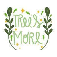 plus de texte d'arbres vecteur