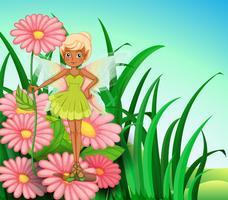 Une fée au jardin
