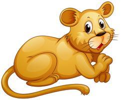 Lion mignon avec visage heureux