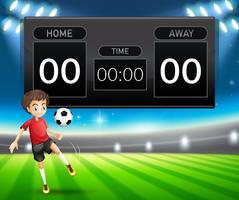 Un modèle de tableau de bord de football