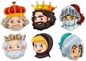 Différents personnages de conte de fées pour homme vecteur