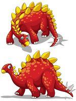 Dinosaure de couleur rouge vecteur