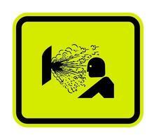 Libération d'explosion du signe symbole de pression isoler sur fond blanc, illustration vectorielle vecteur