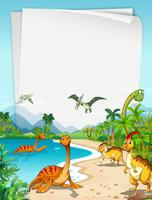 Dinosaures à l'Océan vecteur