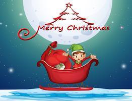 Elfe et cadeaux dans le panier