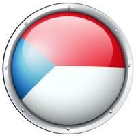 Drapeau chilien sur badge rond vecteur