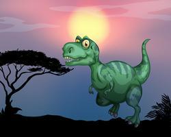 Tyrannosaurus rex sur le terrain vecteur