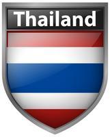 Conception d'icône pour le drapeau de la Thaïlande vecteur