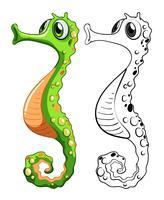 Contour d'animaux pour hippocampe vecteur