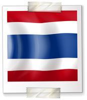 Drapeau de la Thaïlande sur papier carré vecteur