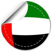 Création d'autocollant pour le drapeau des Émirats arabes unis vecteur