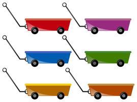 Wagon en six couleurs