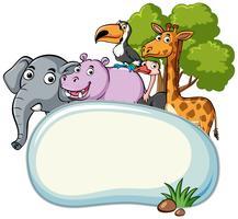 Modèle de bordure avec de nombreux animaux