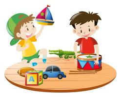 Garçons jouant avec des jouets