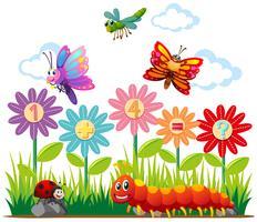 Insectes et question d'addition vecteur